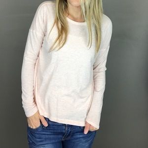 Lou & Grey pink super soft long sleeve tee size XS
